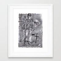 black butler Framed Art Prints featuring Black Butler - Undertaker by Furiarossa