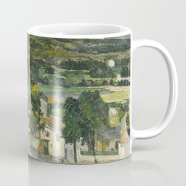 Stolen Art - View of Auvers-sur-Oise by Paul Cezanne Coffee Mug