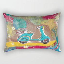 You are my Greatest Adventure - Turquoise Vespa  Rectangular Pillow