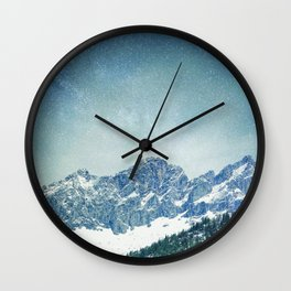 Snow Mountain V3 #society6 #buyart #decor Wall Clock