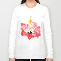 hibiscus Long Sleeve T-shirts featuring Hibiscus by Regan's World