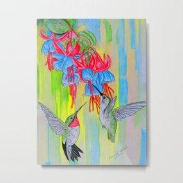 J Humming Bird Metal Print