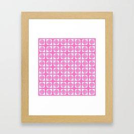 Mid Century Modern Pattern 271 Pink Framed Art Print