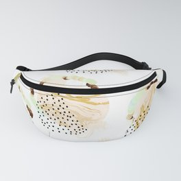 Abstract marble circles Fanny Pack