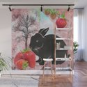 Black Rabbit and Strawberries by judyskowron