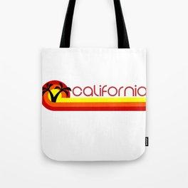 Retro California Vintage 1980s California State Design Tote Bag