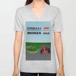 Formula 1 Monza GP Poster 2018 Unisex V-Neck