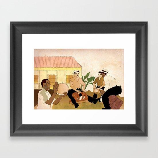 Plenazo con marimbola Framed Art Print