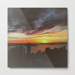 Sunset over Seattle  Metal Print