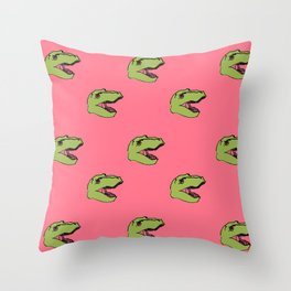 Feed the Monster (Pink) Throw Pillow