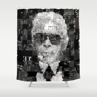 karl Shower Curtains featuring Karl Lagerfeld by Artstiles