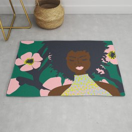 Thoughts of Pink Blooms Everywhere No 01  Rug