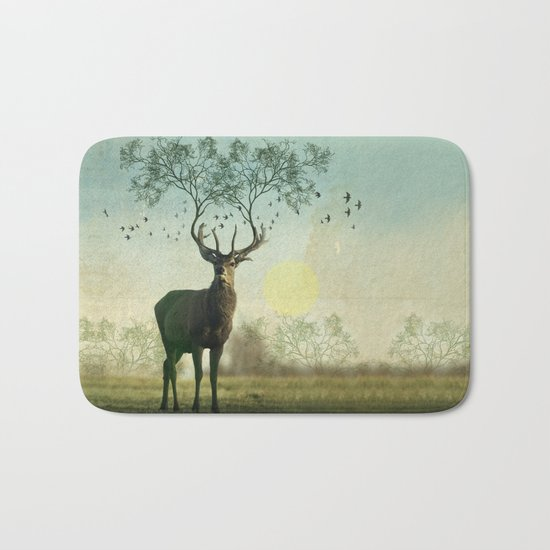 Evergreen Stage Horn Bath Mat