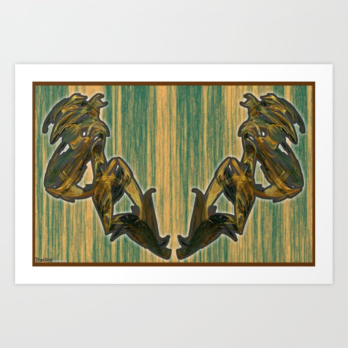 Frakblot 846 Art Print