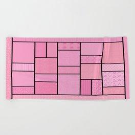 Pink Patchwork Beach Towel