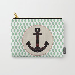 Anchor Aqua Drop Pattern Carry-All Pouch