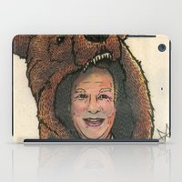 marc johns iPad Cases featuring Bear Suit Marc by Kyle Miller