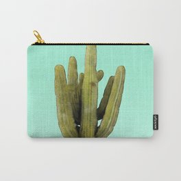 Cactus on Cyan Wall Carry-All Pouch