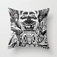 graffiti Throw Pillows featuring Graffiti by very giorgious