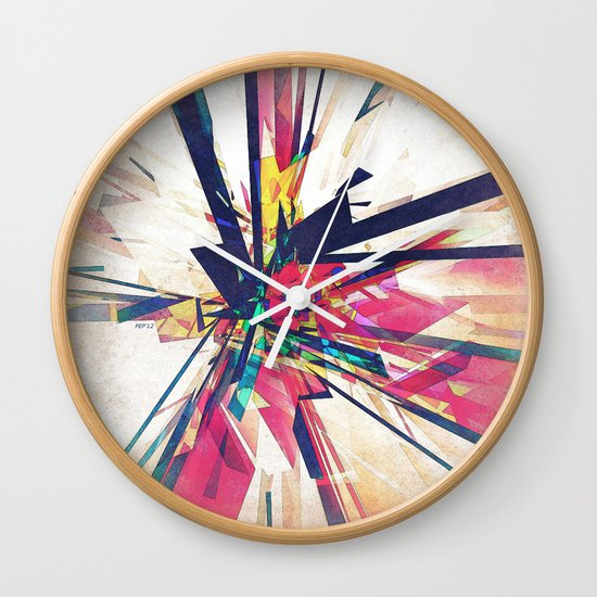 Abstract Geometry Wall Clock
