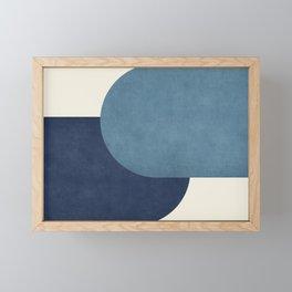 Halfmoon Colorblock - Blue Framed Mini Art Print