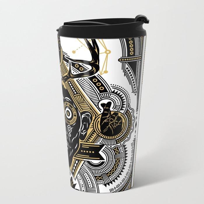 believe, effort and courage Metal Travel Mug