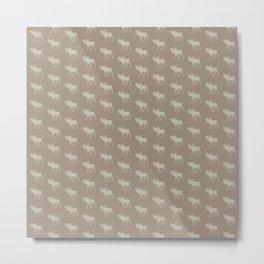 Beautiful Moose Pattern Metal Print