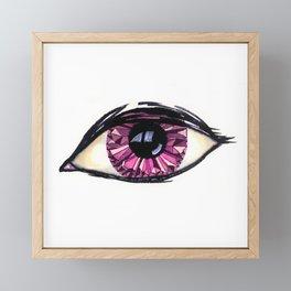 Magenta Crystal Iris Framed Mini Art Print