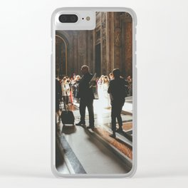 Wedding at St. Peter's Basilica, Vatican, Rome, Italy Clear iPhone Case