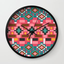 Multicolored joyful shapes Wall Clock