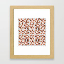 Grey small Clams Illustration pattern Framed Art Print