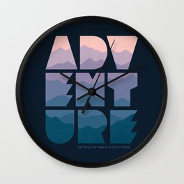 Adventure (Isn't really my thing...) Wall Clock
