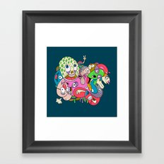 Teenage Mutant Scribble Turtle Framed Art Print