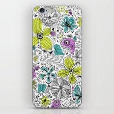 Doddle flowers iPhone & iPod Skin