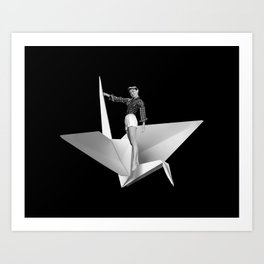 More Delicate than a Paper Crane Art Print