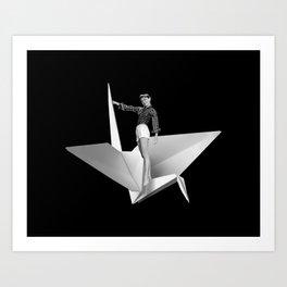 More Delicate than a Paper Crane Art Print