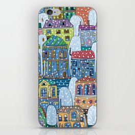 winter in the city iPhone Skin
