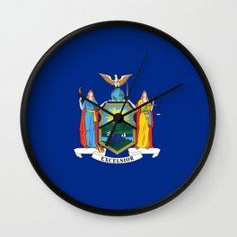 flag state of new york,america,usa,Empire State,big apple,New Yorker,Albany,Broadway,Manhattan,Bronx Wall Clock
