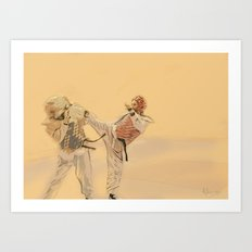 Tae Kwon Do Head Kick Art Print
