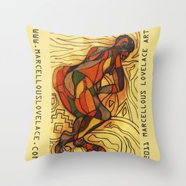 2011 walk out of your loop Throw Pillow