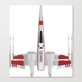 Red X-Wing Canvas Print