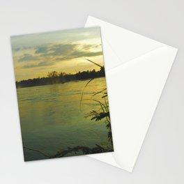 Evening Sunset on the Mekong River Landscape Stationery Cards