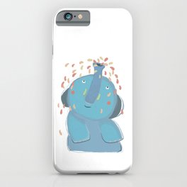 Elephant Shower him Self iPhone Case