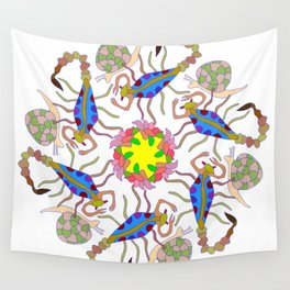 Scorpions & Snails Dance Wall Tapestry