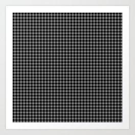 Mini Black and Grey Cowboy Buffalo Check Art Print