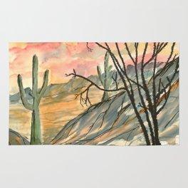 Southwestern Art Desert Painting Rug