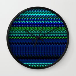 Nautical Rag Weave by Chris Sparks Wall Clock