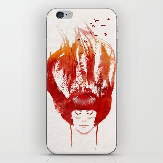 Burning Forest iPhone & iPod Skin