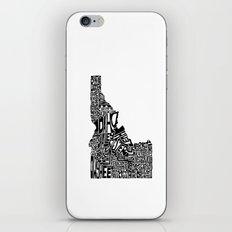 Typographic Idaho iPhone & iPod Skin