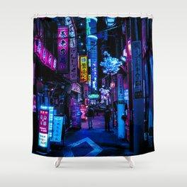Tokyo's Blade Runner Vibes Shower Curtain